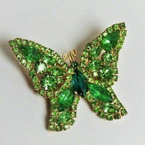 Juliana D&E Sparkling Crystal Butterfly Brooch